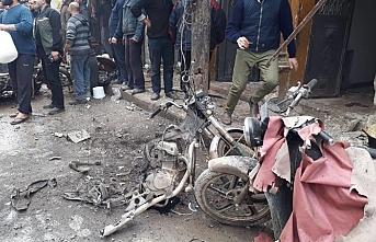 Bab'da bomba yüklü motosiklet patladı