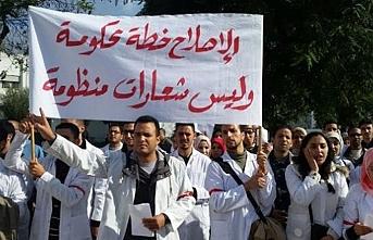 Fas'ta öğretmenlerin sözleşmeli protestosu