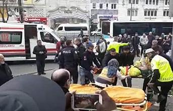 Halk otobüsü yayalara çarptı, çok sayıda kişi yaralandı
