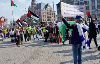 Hollanda'daki Filistin gösterisinde İsrail taraftarlarından provokasyon