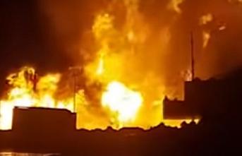 Kazakistan'ın petrol sahasında yangın çıktı