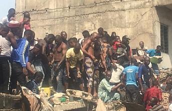 Nijerya'da çöken okuldan 41 kişi kurtarıldı