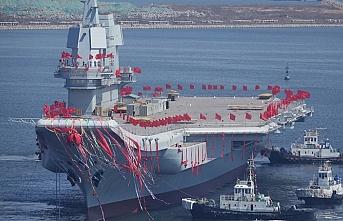 Çin'in ilk yerli üretim uçak gemisi yarın görücüye çıkacak