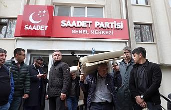 Saadet Partisi genel merkez binası tahliye ediliyor
