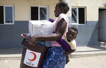 Türk Kızılayı Mozambik'te yaraları sarmaya devam ediyor