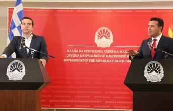 Yunanistan Başbakanı Çipras Kuzey Makedonya'da