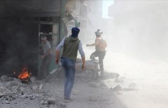 İdlib'de iftardan önce hava saldırısı : Ölü ve yaralılar var