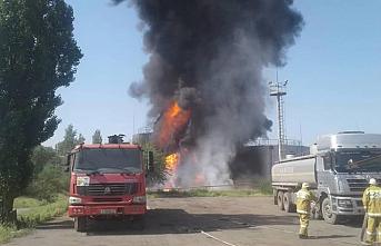 Kırgızistan'ın güneyinde petrol deposunda yangın