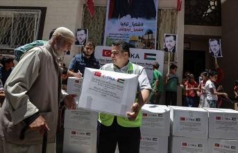 TİKA'dan Gazze'deki ihtiyaç sahibi ailelere gıda desteği