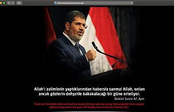 Türk bilgisayar korsanları Mısır'daki mahkeme salonunda Mursi'yi gösterdi