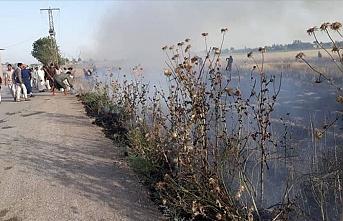 YPG/PKK işgal ettiği bölgelerde tarlaları ateşe veriyor