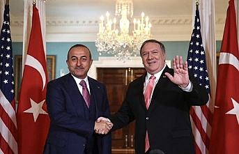 Çavuşoğlu ABD'li mevkidaşı Pompeo ile görüştü