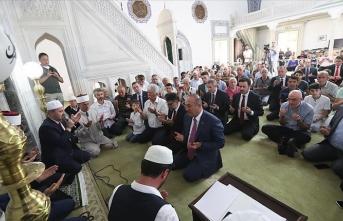 Dışişleri Bakanı Çavuşoğlu Kuzey Makedonya'da '15 Temmuz' programına katıldı
