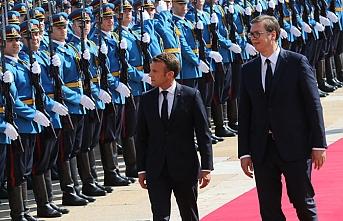 Fransa Cumhurbaşkanı Sırbistan'da