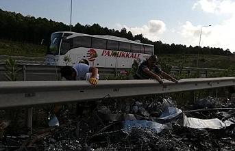 Kuzey Marmara Otoyolu'ndaki kaza Yavuz Selim Köprüsü'nü tıkadı