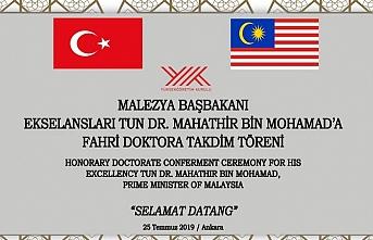 Malezya Başbakanı Mahathir Muhammed'e fahri doktora takdim töreni