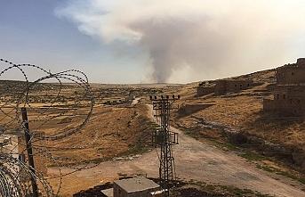 Midyat ve Nusaybin'de yangın