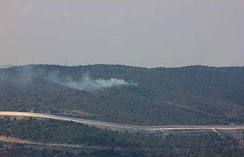 Türkmendağı'ndaki çatışmalarda orman yangını çıktı