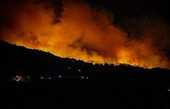 Komşuda korkutan yangın: Oteller tahliye edildi