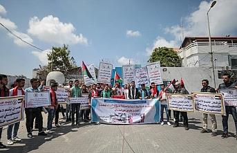 Lübnan'ın Filistinli mülteci kararı Gazze'de protesto edildi