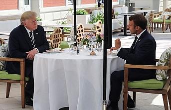 Macron ve Trump bir araya geldi