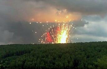 Rusya'da askeri silah deposunda patlama