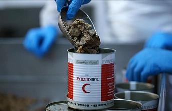 Türk Kızılay konserve kurban etlerini 2,5 milyon kişiye ulaştıracak