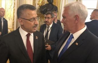 Fuat Oktay ile Pence Varşova'da görüştü