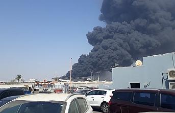 Haremeyn Tren İstasyonu'nda korkutan yangın