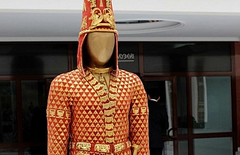 Kazak Tutankamon'u Altın Elbiseli Adam Ankara'da