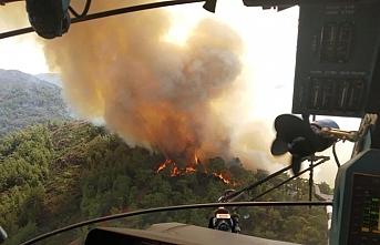 Marmaris'teki yangın hala devam ediyor