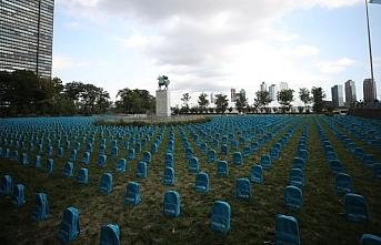 Okul çantaları 'mezar' oldu