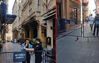 Beyoğlu'nda bir binada çökme tehlikesi yaşandı