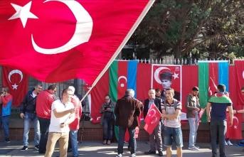 Budapeşte'de PKK yandaşlarının eylemine Türk vatandaşlarından engel