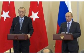 Cumhurbaşkanı Erdoğan ile Rusya Devlet Başkanı Putin'den ortak açıklama