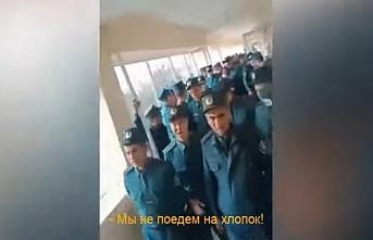 Eğitim diye alınıp pamuk toplamaya götürülen İçişleri Bakanlığı çalışanlarından protesto