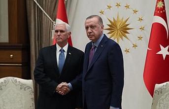 Erdoğan ABD Başkan yardımcısını kabul etti