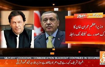 Erdoğan, Pakistan Başbakanı Han ile görüştü