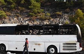 Muğla'da yolcu otobüsünde yangın