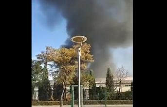 Sincan'da fabrikada yangın çıktı