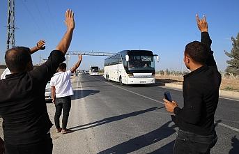 Suriye Milli Ordusu mensupları Akçakale'ye geldi