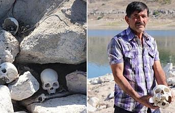 Yamula Barajı'nda insan kafatası ve kemikleri ortaya çıktı