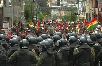 Bolivya'da ordu sokağa indi