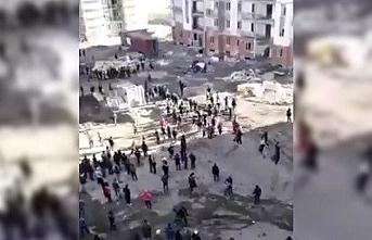 Semerkand'da Özbek ile Türk işçiler arasında büyük bir kavga yaşandı   VİDEO
