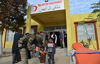 Tel Abyad Hastanesi TSK tarafından onarıldı