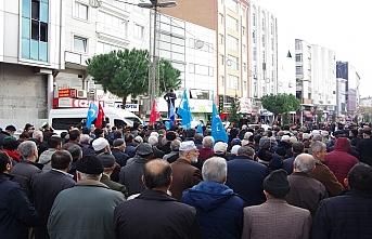 Anadolu Gençlik Derneği'nden Doğu Türkistan'da ölenler için cenaze namazı