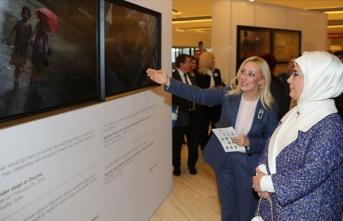 Emine Erdoğan, Cenevre'de Uluslararası Kızılhaç-Kızılay Müzesi'ni ziyaret etti