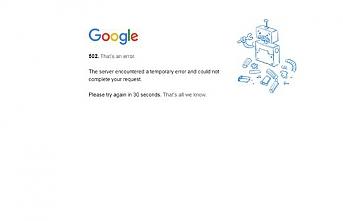 Google servisleri kesinti sorunu yaşıyor