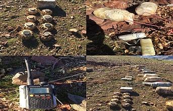 Irak'ın kuzeyinde ele geçirilen PKK'ya ait EYP, mayın ve silahlar imha edildi