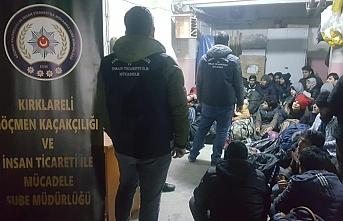 Kırklareli'nde kamyonda 98 göçmen yakalandı